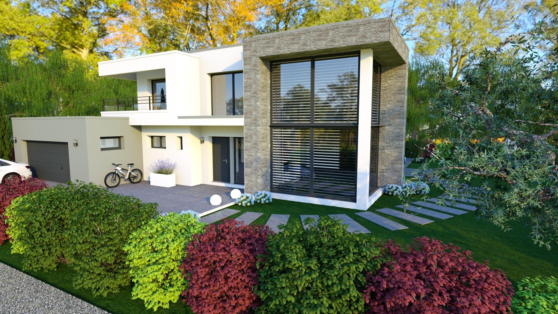 Maison Toiture Terrasse Avec Garage Double