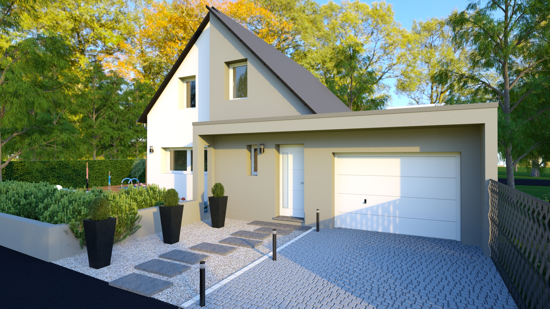 Maison traditionnelle 95 m² garage