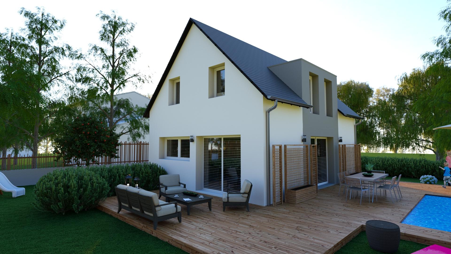 Maison traditionnelle 95 m² coté jardin