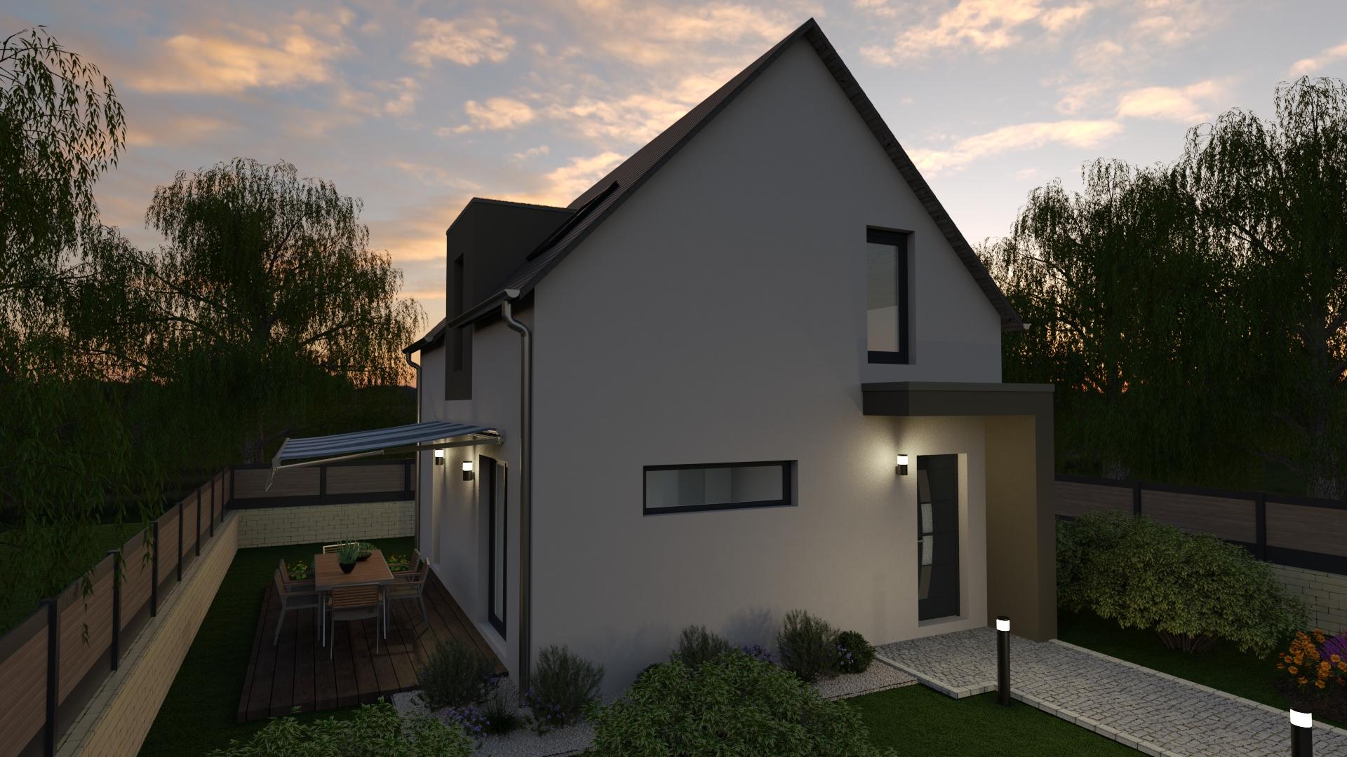 Maison de 80 m² avant
