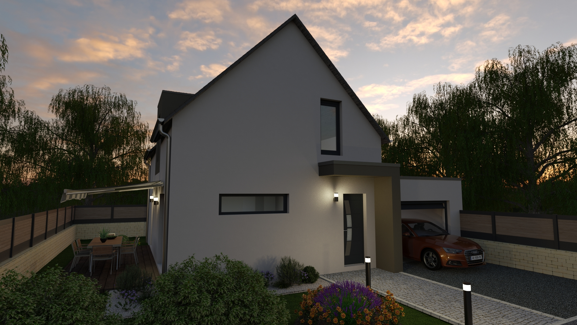 Maison traditionnelle avec garage 1