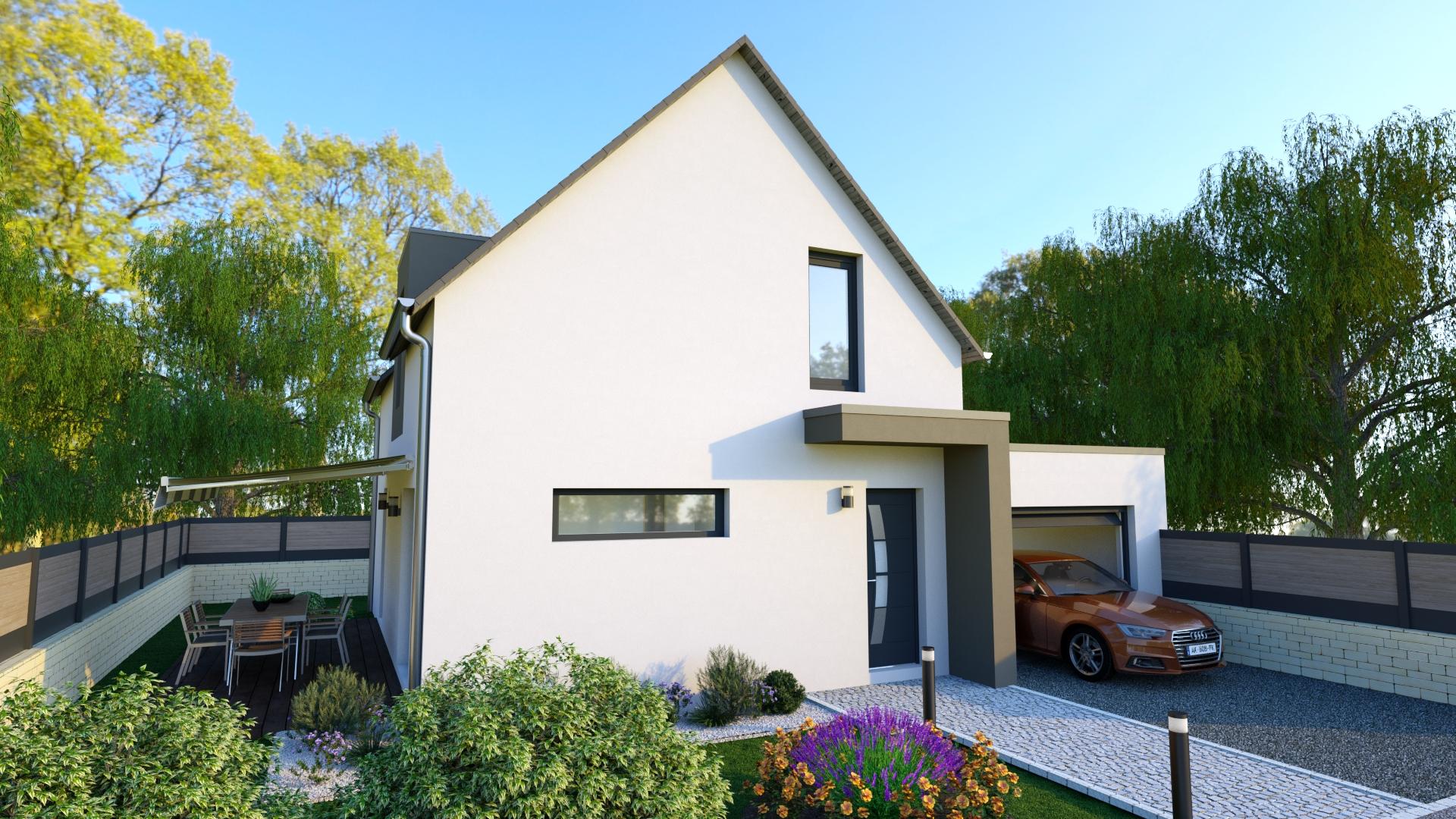 Maison traditionnelle avec garage 2
