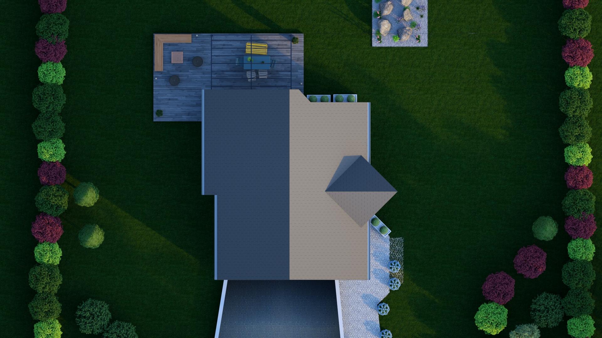 Maison vue de dessus